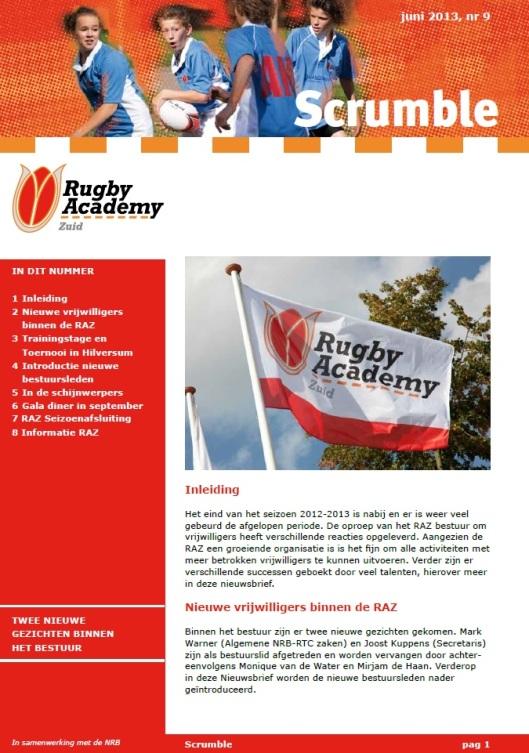 Nieuws Rugby Academy Zuid